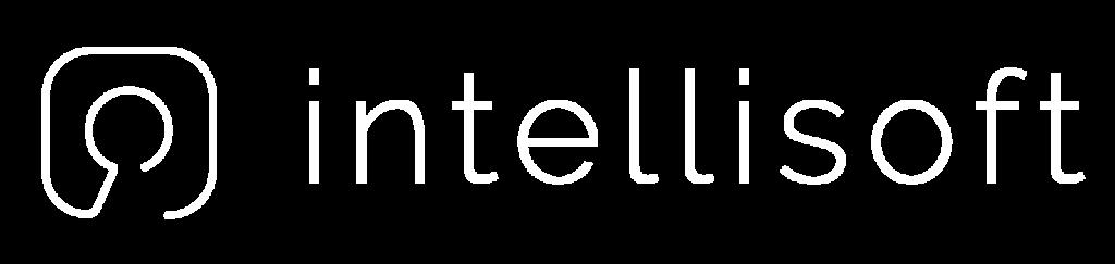White Intellisoft logo